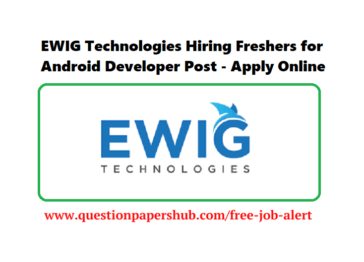EWIG Technologies Hiring Freshers Recruitment 2020 Logo