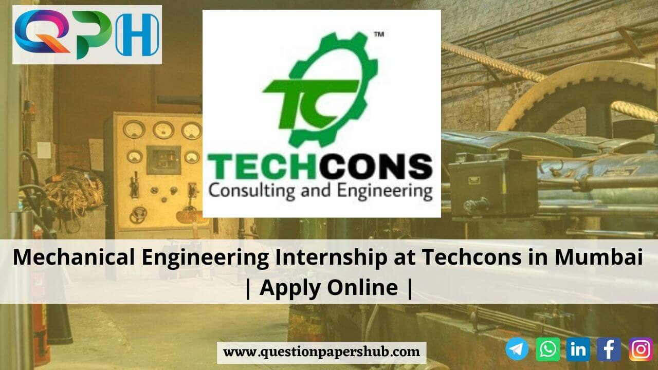 Mechanical Engineering Internship in Mumbai at Techcons