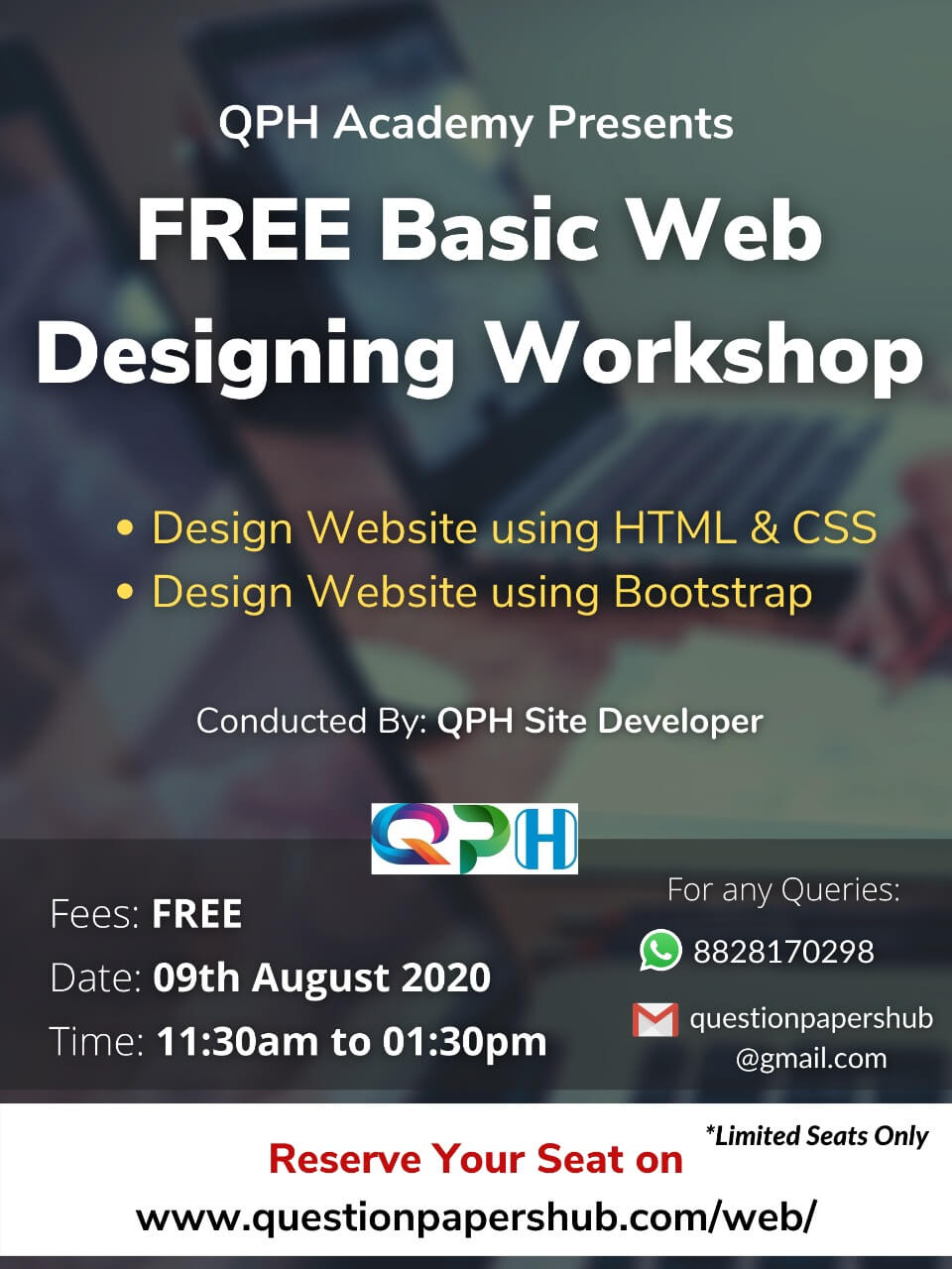FREE Basic Web Designing Workshop