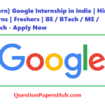 Google Internship in India