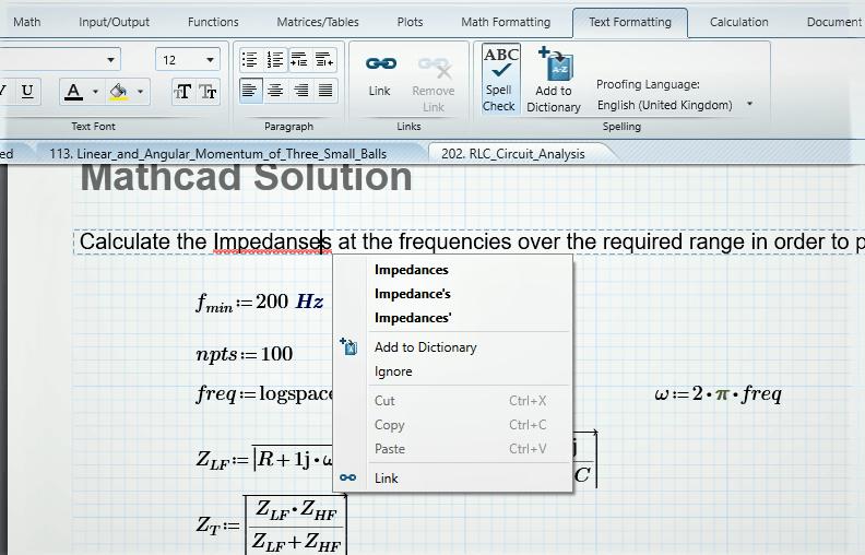 MATHCAD Image - Software every engineer should know
