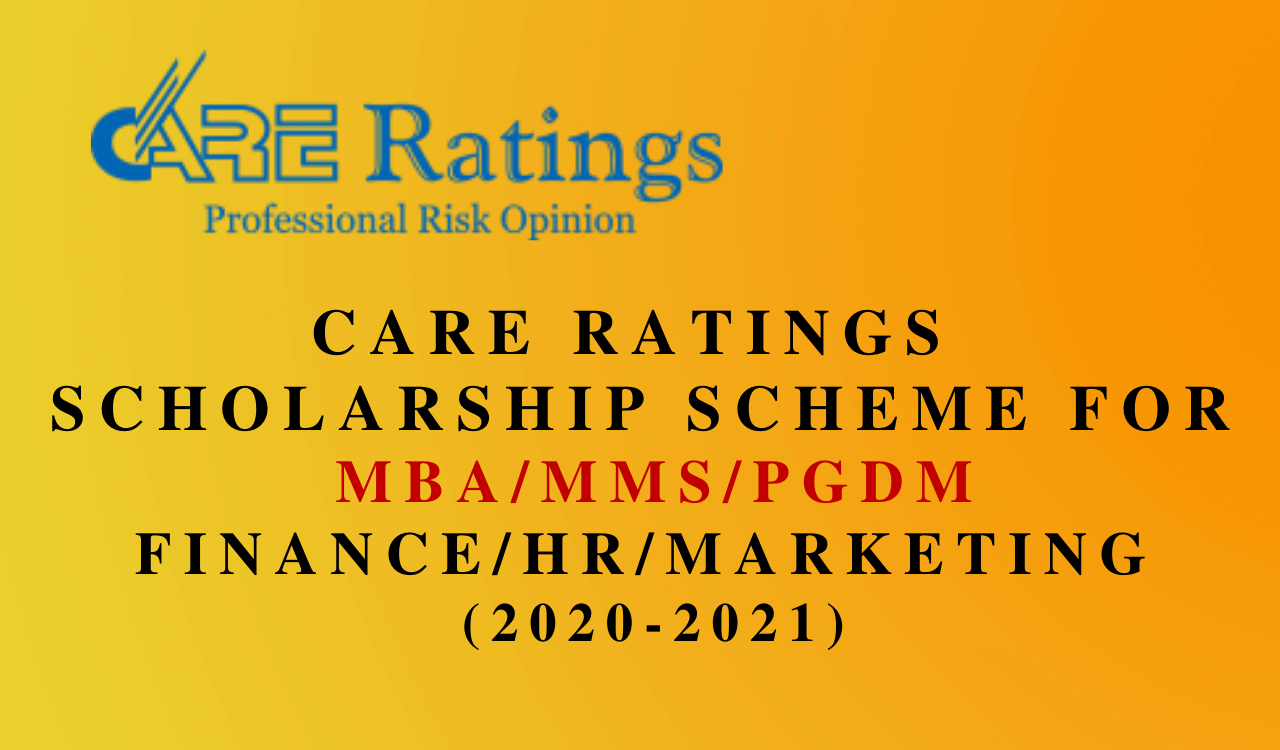 CARE Ratings Scholarship 2021