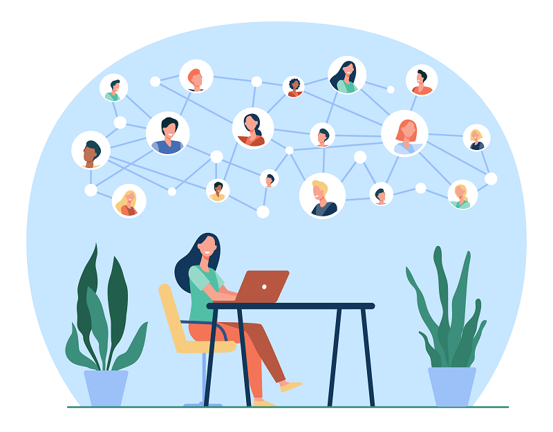 3) Connect with your network